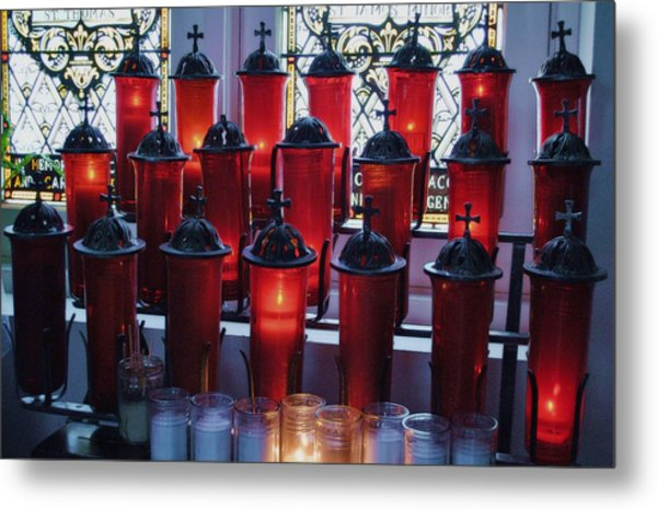 Lighting A Candle For You Metal Print