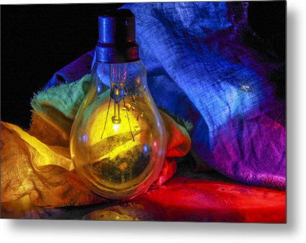 Lighting The Dark Metal Print