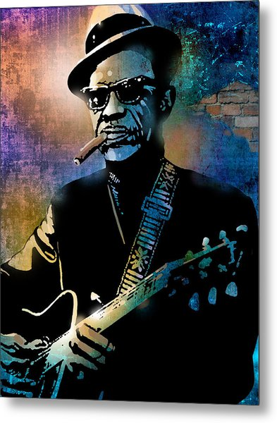 Lightnin Hopkins Metal Print