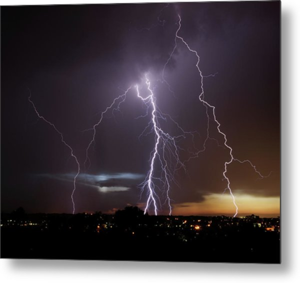 Lightning At Dusk Metal Print