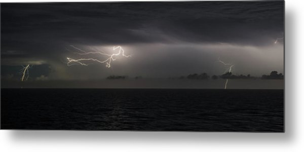 Metal Print featuring the photograph Lightning At Sea II by William Dickman