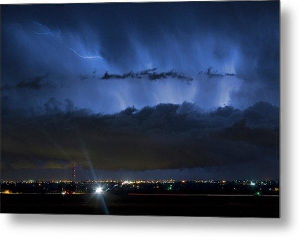 Lightning Cloud Burst Metal Print