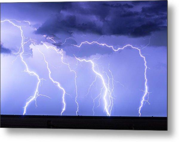 Lightning On The Plains Metal Print