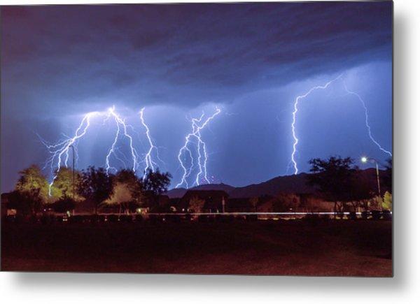 Lightning Over Laveen Metal Print