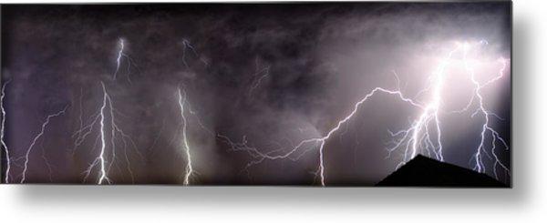 Lightning Over Perris Metal Print
