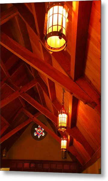 Lights And Beams Metal Print