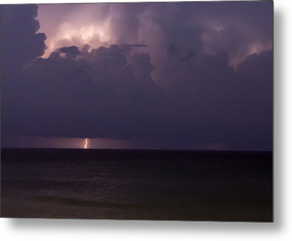 Lights Over The Ocean Metal Print