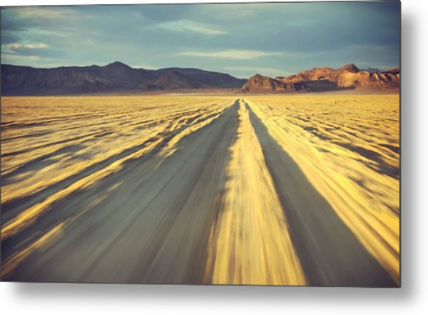 Like A Band Of Gypsies We Go Down The Desert Metal Print