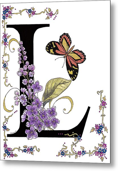 Lilac And Large Tiger Butterfly Metal Print