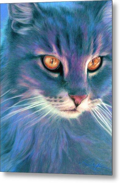 Lilac Cat Metal Print
