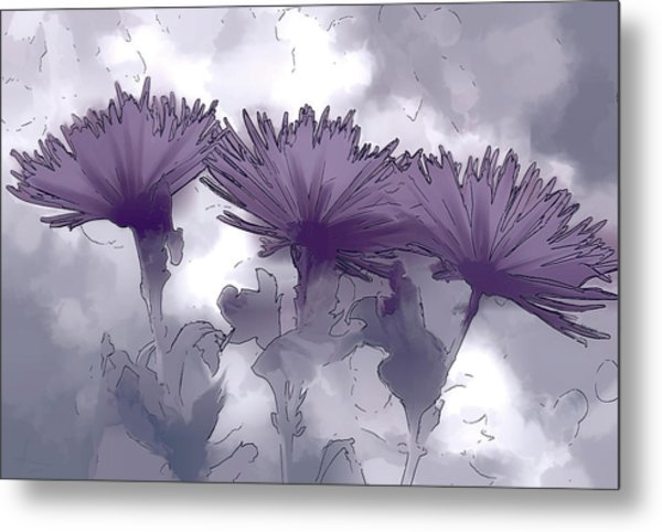 Lilac Fancy Metal Print