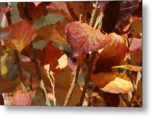 Lilac Leaves 36 Metal Print