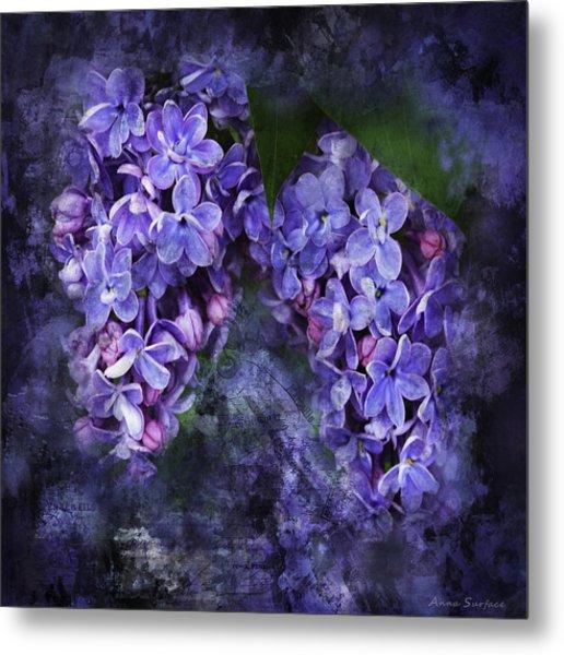 Lilacs Frenchy Scruff Metal Print