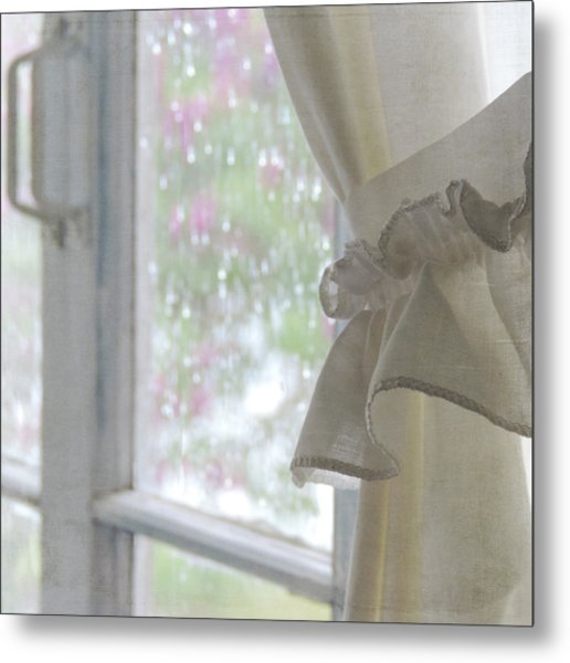 Metal Print featuring the photograph Lilacs In The Rain by Sally Banfill