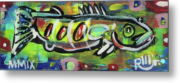 Lil'funky Folk Fish Number Eighteen Metal Print