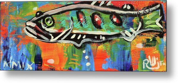 Lil'funky Folk Fish Number Fifteen Metal Print