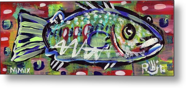 Lil'funky Folk Fish Number Fourteen Metal Print