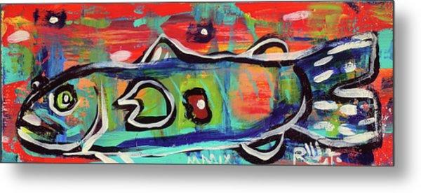 Lil'funky Folk Fish Number Seventeen Metal Print