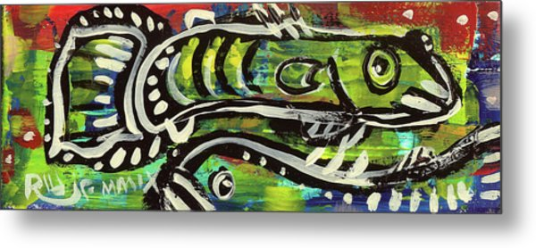 Lil'funky Folk Fish Number Sixteen Metal Print