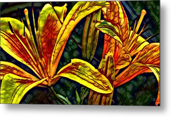 Lilly Fire Metal Print
