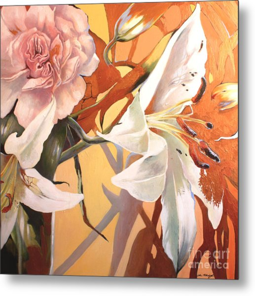 Lilly Melange Metal Print
