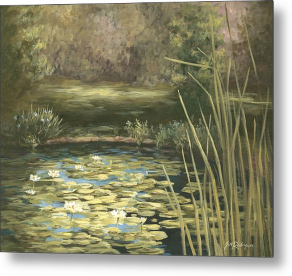 Lilly Pond Metal Print