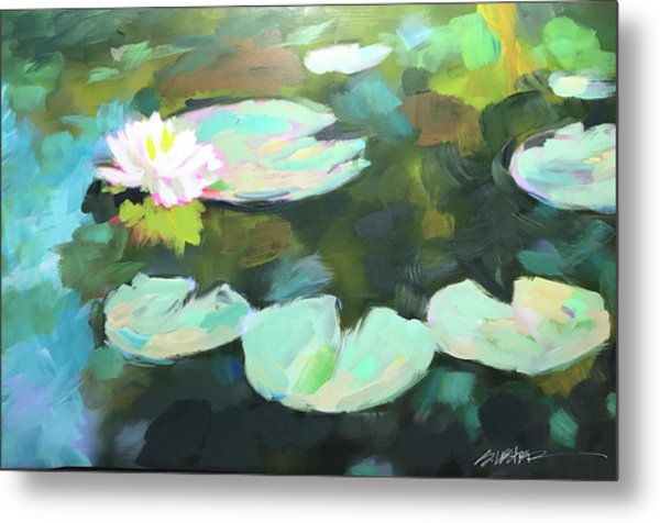 Lillypad Reflections Metal Print