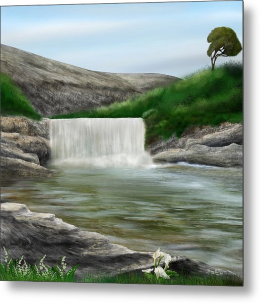 Lily Creek Metal Print