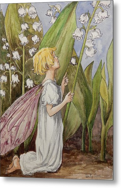 Lily Of The Valley Fairy After Cicely Mary Barker Metal Print