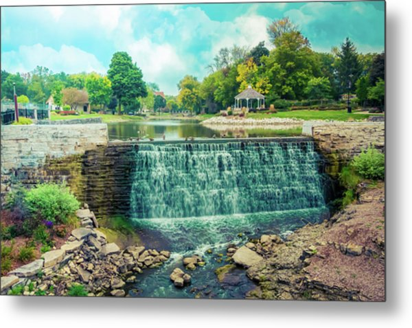 Lime Kiln Park Waterfall Metal Print