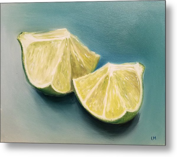 Metal Print featuring the painting Limes by Linda Merchant