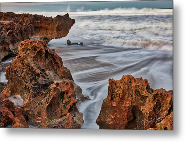 Metal Print featuring the photograph Limestone Ocean by David A Lane