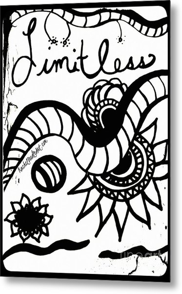 Metal Print featuring the drawing Limitless by Rachel Maynard
