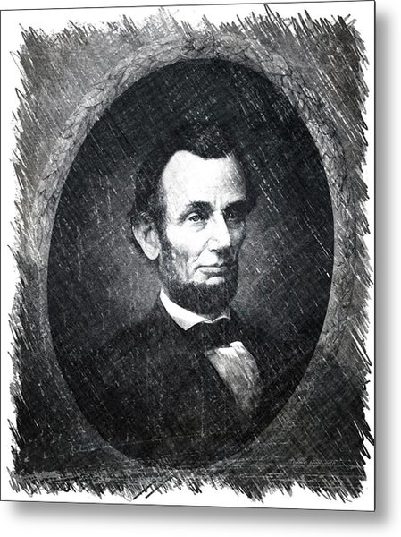 Lincoln Bw Portrait Metal Print