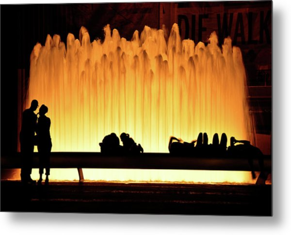 Lincoln Center Fountain Metal Print
