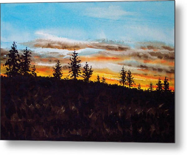 Lincoln County Sunset 1 Metal Print