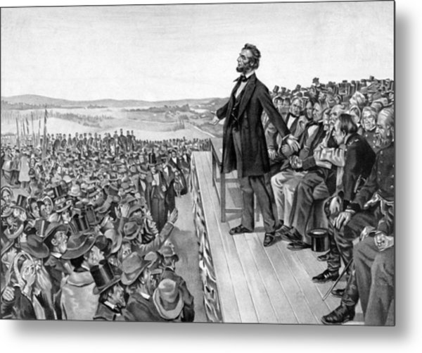 Lincoln Delivering The Gettysburg Address Metal Print