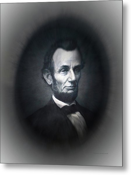 Lincoln Forever In Our Minds Eye Metal Print