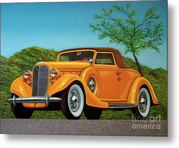 Lincoln K Convertible 1935 Painting Metal Print