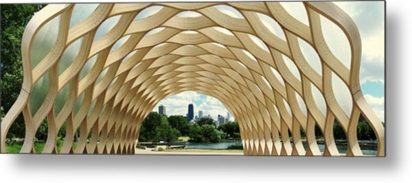 Lincoln Park Zoo Nature Boardwalk Panorama Metal Print