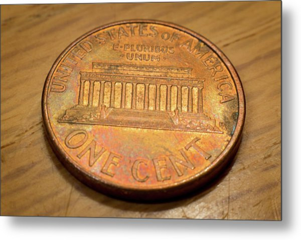Lincoln Penny Metal Print