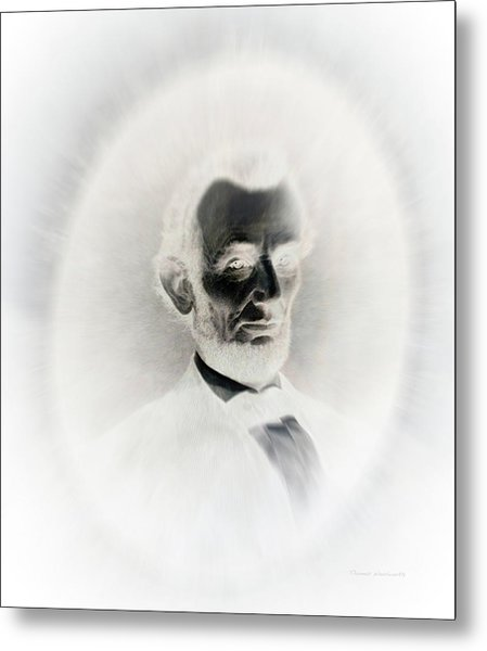Lincoln Portrait Inverted Image Metal Print