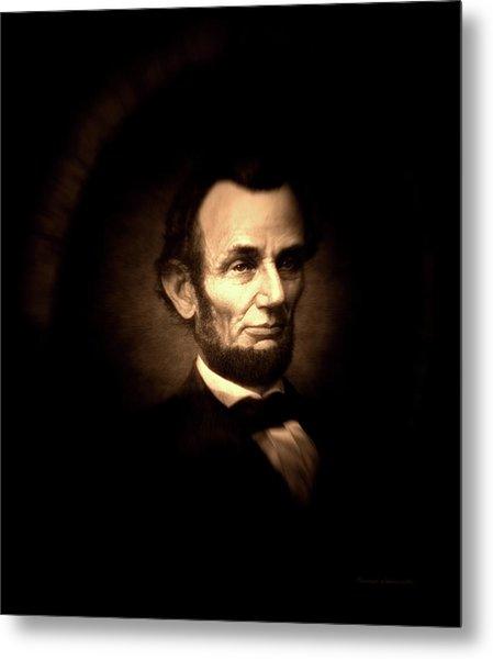 Lincoln Sepia Portrait Metal Print