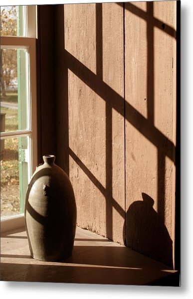 Linear Shadows Metal Print by Angie Bechanan
