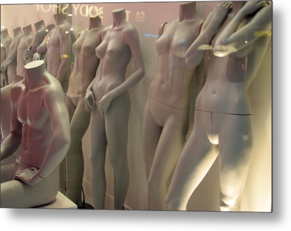 Lined Up And Waitng Metal Print by Jez C Self