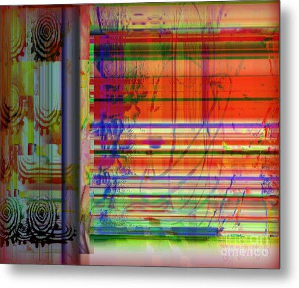 Lines Of Illusion Metal Print by Fania Simon