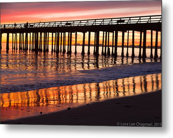 Sunset Seacliff Shadows Metal Print