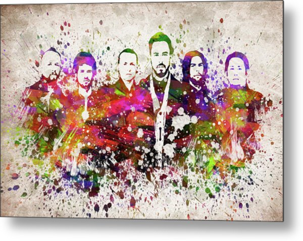 Linkin Park In Color Metal Print