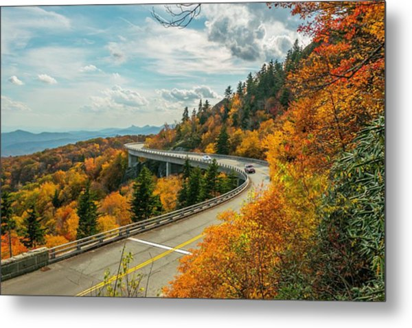 Linn Cove Viaduct Metal Print