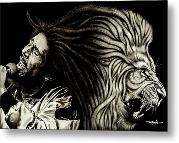 Lion Heart -bob Marley Metal Print